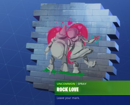 Same Rock Man & Woman in Rock Love Spray