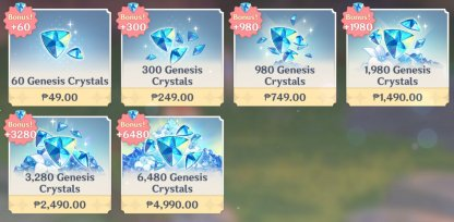 Genesis Crystals Are Premium Currency