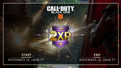 Call of Duty: Black Ops IV Double XP (2XP) Event