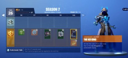 Fortnite Season 7 Update Patch Notes The Ice King