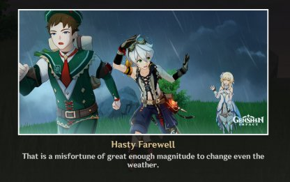 Ending 2: Hasty Farewell