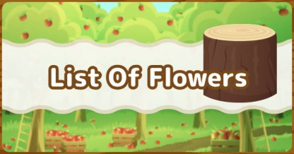 list of flowers