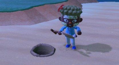 Use Shovel To Dig Up Manila Clam