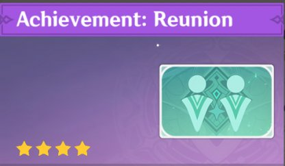 Complete To Get Achievement: Reunion Namecard