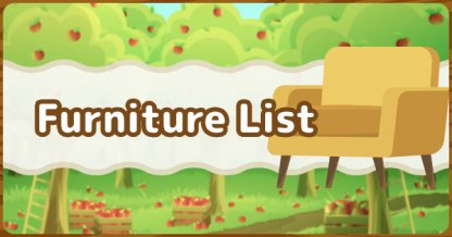 Furniture List
