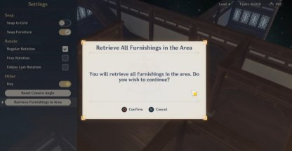 Select The Retrieve Furnishings In Area