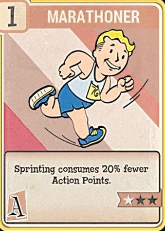 fallout 76 Perk Card Agility Marathoner