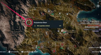 Kalydonian Boar Map Phokis