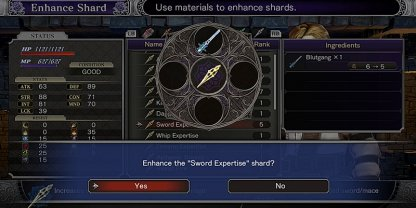 Upgrade Sword Expertise Shard