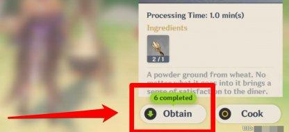 Obtain Processed Ingredients