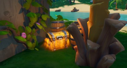 Search Chests at Lazy Lagoon & Happy Hamlet