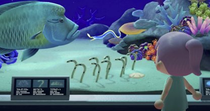Spotted garden eels