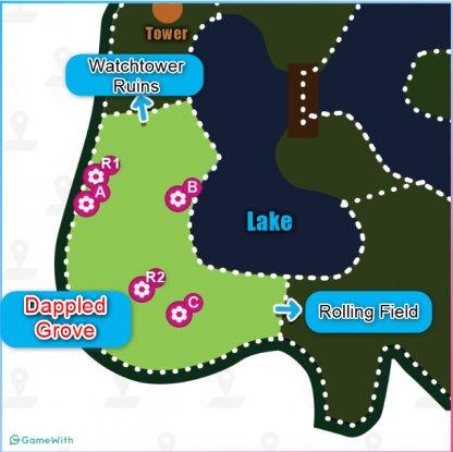Dappled Grove Dens Location Map