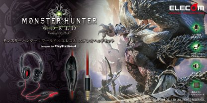 Official Monster Hunter World x Elecom Headset