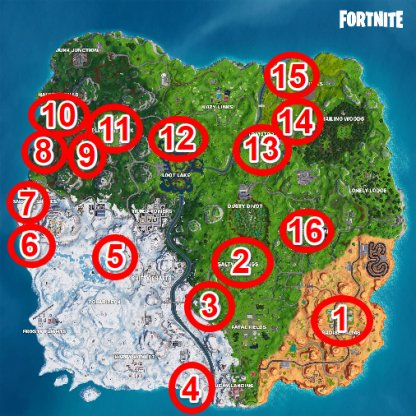 Fortnite Season 7 Week 3 Challenge Doorbell Locations