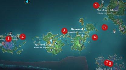 Inazuma Fishing Locations