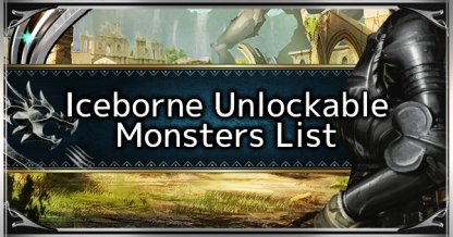 Iceborne Unlockable Monsters