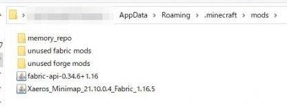 Move Fabric API to mod folder