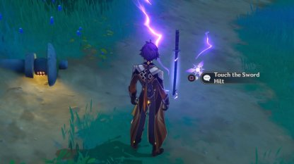 Locate 10 Sword Hilts Surrounded By Lightning