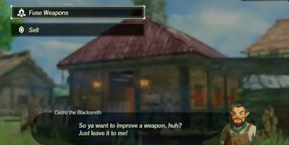 Sell Weapons At Blacksmith