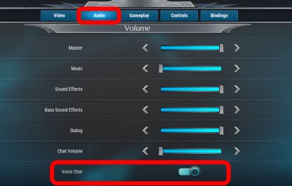 Enable Voice Chat Under Audio Tab