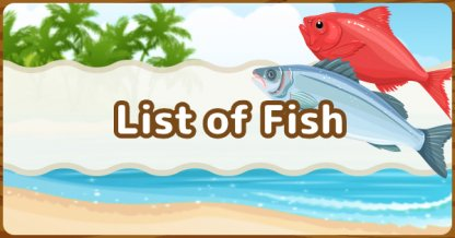 All Fish List