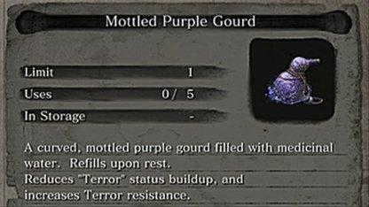 Mottled Purple Gourd