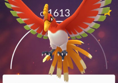 Pokemon GO Ho-Oh CP IV Reference Chart