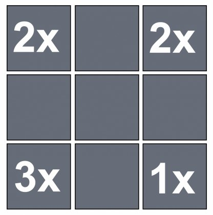 nine rotating cube