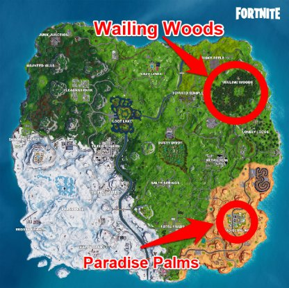 Recommended Search Locations Wailing Woods Paradise Palms