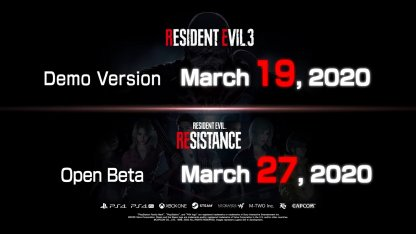 RE3 Remake Demo Also Coming
