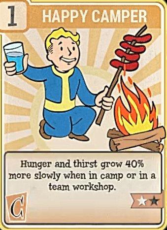 Fallout 76 Perk Card Charisma Field Happy Camper