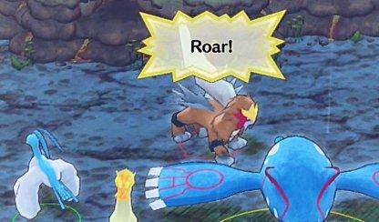 Roar Moves Pokemon Away