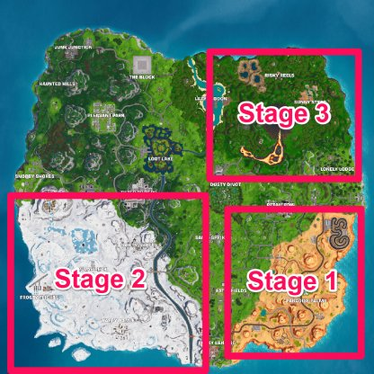 Staged Challenge Locations