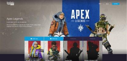 Visit Apex Legends Twitch Prime Page