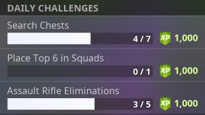 Daily Challenge List & Reset Timing