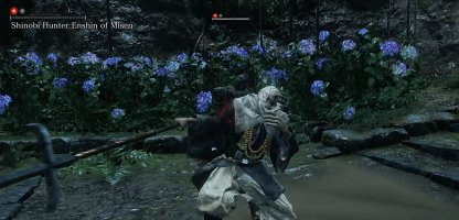 Use the Flower Bed to Sneak and Assassinate the Shinobi Hunter Enshin of Misen