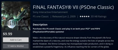 Play FFVII with the PS4