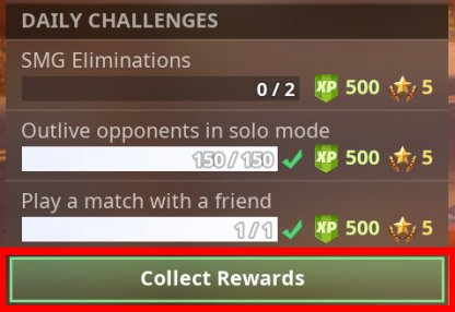 Collect Rewards To Complete Challenges