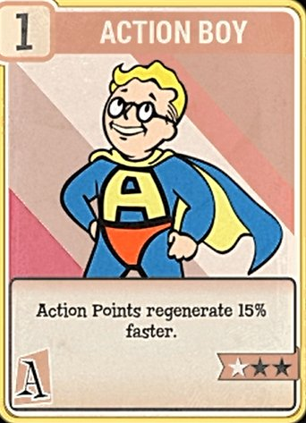 fallout 76 Perk Card Agility Action Boy