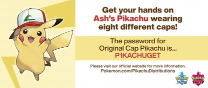 Pikachu original cap password