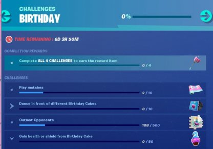 A New Set of Birthday Challenges & Rewards
