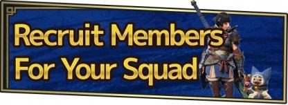 Squad Recruitment