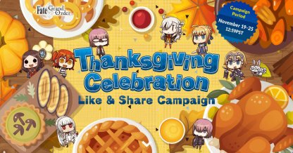 Thanksgiving Celebration Like & Share Campaign Banner