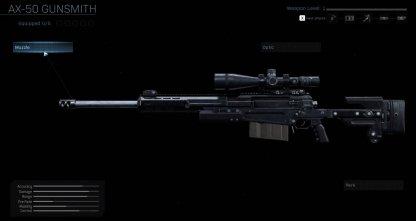 Sniper Rifle AX-50
