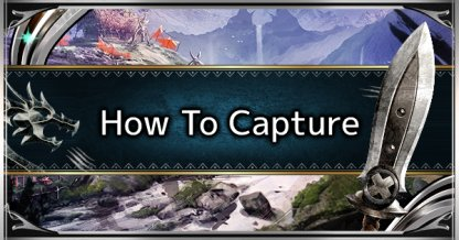 How To Capture Monsters - Capturing Guide, Benefit & Tips