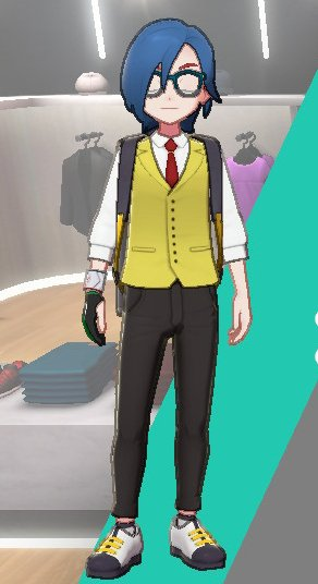 Vest And Tie Ensemble (Yellow)