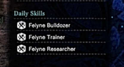 Watch Out For Available Daily Skills