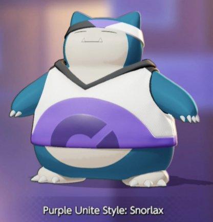 Purple Unite Style Snorlax
