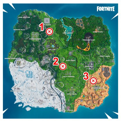 All Giant Beach Ball Locations Map